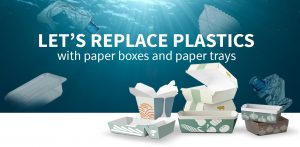 LET'S REPLACE PLASTICS with paper tray