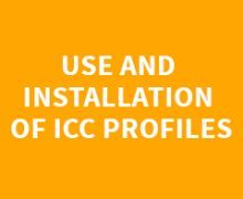 USE AND INSTALLATION OF ICC PROFILES